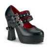 DEMON-16 Black Faux Leather